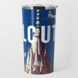 Calcutta - Vintage Airline Travel Poster Travel Mug