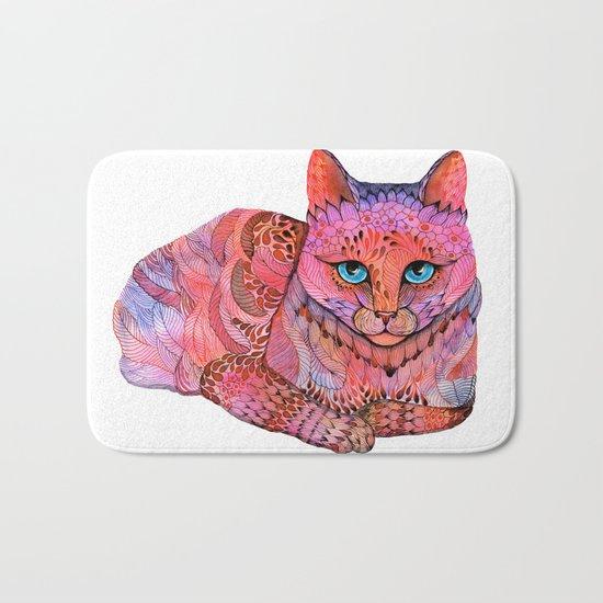 SUNSET CAT Bath Mat