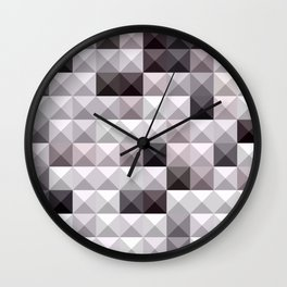 Davy Gray Abstract Low Polygon Background Wall Clock