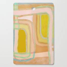 Shapes and Layers no.28 - Modern Squares and Stripes Cutting Board