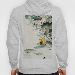 Frog in the swamp  - Vintage Japanese Woodblock Print Art Hoody