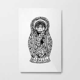матрёшка Metal Print