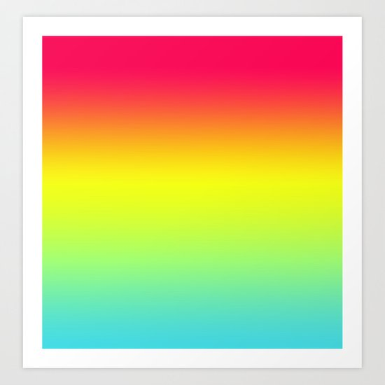 Red Yellow Blue Gradient Art Print