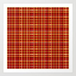 1000 Shades of Red Tartan Art Print