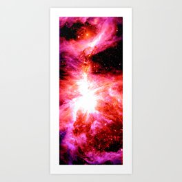 Orion Nebula : Red Pink Orange Art Print