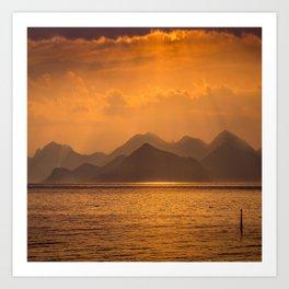 Sundown in Cannes Art Print