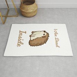 I Am Dead Inside As A Funny Sweet Hedgehog Humor Rug