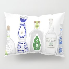 Tequila Bottles Illustration Pillow Sham