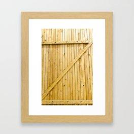 new wooden gates Framed Art Print
