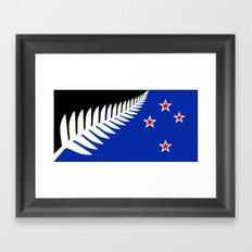 NZ flag (that nearly made it) 2016 Framed Art Print