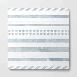 Chambray aztec stripe Metal Print