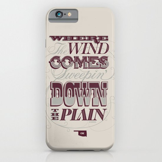 Sweepin' Down The Plain iPhone & iPod Case