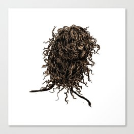 Messy dry curly hair 2 Canvas Print