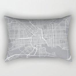 Baltimore Map, Maryland USA - Pewter Rectangular Pillow