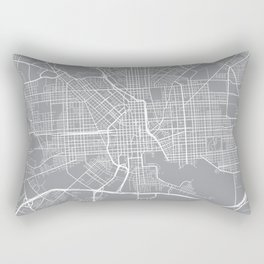 Baltimore Map, Maryland USA - Pewter Rectangular Pillow