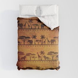 African Animal Pattern Comforters