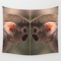 arctic monkeys Wall Tapestries featuring Mirror monkeys by AvHeertum
