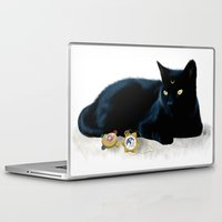 luna Laptop & iPad Skins featuring Luna by artbyteesa