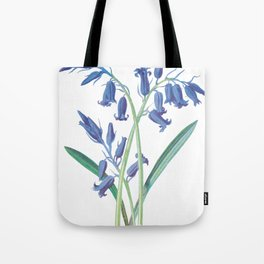 Blue Lily of the Valley Artwork Painting Tote Bag