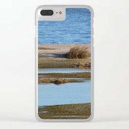 At the beach 5 Clear iPhone Case