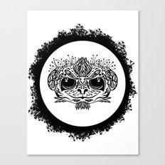 Half Evil Wild Monkey Canvas Print