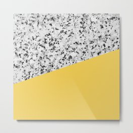 Granite and Primrose Yellow Color Metal Print