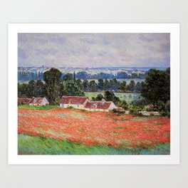 Poppy Field at Giverny by Claude Monet Art Print