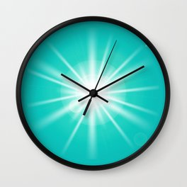 turquoise and light effect Wall Clock