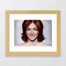 Alyson Hannigan Framed Art Print