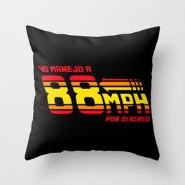 88 mph Throw Pillow