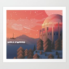 Star gazing in Hollywood Art Print