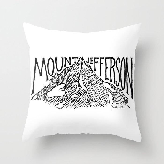 Mount Jefferson Throw Pillow