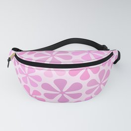 Abstract Flowers in Pinks Fanny Pack