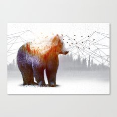 A Wilderness Within / Bear Canvas Print