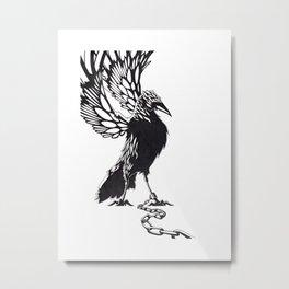 Bird Chained Metal Print
