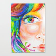 rainbow haired Canvas Print
