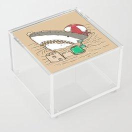 Sandy Beach Shark Acrylic Box