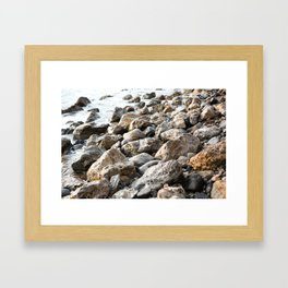 Palos Verdes Pebbles  Framed Art Print