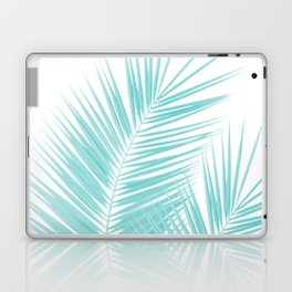 Soft Turquoise Palm Leaves Dream - Cali Summer Vibes #1 #tropical #decor #art #society6 Laptop & iPad Skin