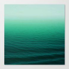 Deep Aqua Waves Canvas Print