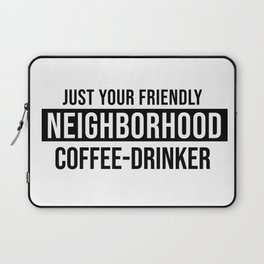 Friendly Neighborhood Coffee-Drinker Laptop Sleeve