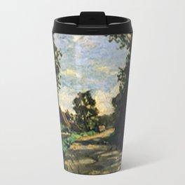 Walk Road of the Farm Saint-Simeon - Claude Monet Travel Mug
