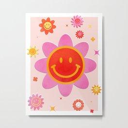 Smiling Flower Faces  Metal Print