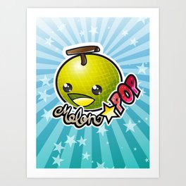 Melon☆POP logo Art Print