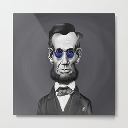 Abraham Lincoln (Steampunk) Metal Print