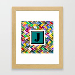 J Monogram Framed Art Print