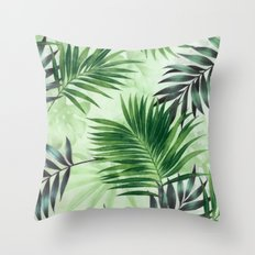 Palm leaves IV Throw Pillow