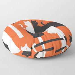 Cat in De Stijl - Halloween Edition Floor Pillow