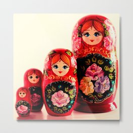 Babushka Russian Doll Metal Print