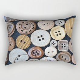 Wooden Buttons Rectangular Pillow
